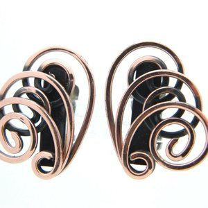 Genuine Copper Modernist Modern Abstract Swirl